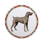 Weimaraner Christmas Ornament