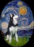 Unique Siberian Husky Art
