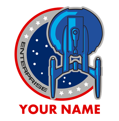 Personalized Star Trek Enterprise Emblem