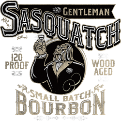 Gentleman Sasquatch Small Batch Bourbon  Gifts