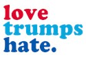 Love trumps hate Yard Signs