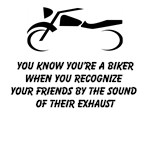 You Know You're A Biker When You Recognize Your Friends By The Sound Of Their Exhaust