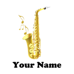 Saxophone Personalized