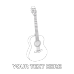 Acoustic Guitar Personalized