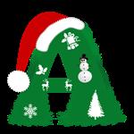 Christmas Monogram Letter A