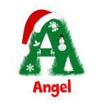 Christmas Monogram  A  Customized