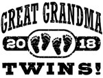 Great Grandma 2018 Twins t-shirts