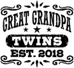 Great Grandpa Twins Est. 2018 t-shirts