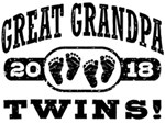 Great Grandpa 2018 Twins t-shirts