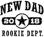 Rookie New Dad 2018 t-shirts