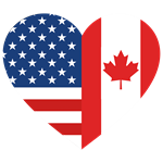Canadian American Flag Love