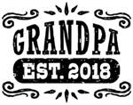 Grandpa Est. 2018 t-shirts