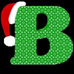 Christmas Monogram Letter B