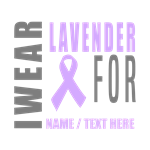 Lavender Awareness Ribbon Customized