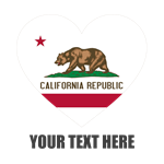 California Flag Heart Personalized