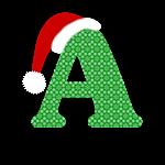Christmas  Letter A Monogram