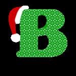 Christmas Letter B Monogram