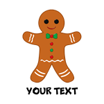 Gingerbread Man Personalized