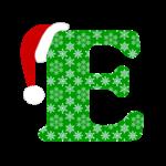 Christmas Monogram Letter E