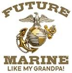 Future Marine Like My Grandpa t-shirts