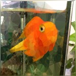 Friend Goldfish Aquarium Geometric