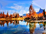 Tree Reflections Low Poly Landscape