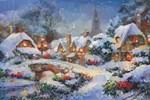 Snow Christmas Village Low Poly