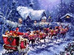 Santa Claus Sleigh Snow Reindeer