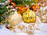 Gold Christmas Ornaments Geometric