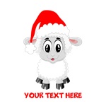 Christmas Santa Sheep Baby