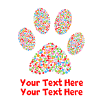 Dog Paw Print Customized