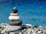 Zen Stones Blue Water