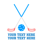 Floorball Hockey Personalized