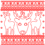 Christmas deer Gifts Red White
