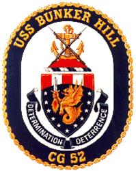USS Bunker Hill CG 52 Ash Grey  Gifts