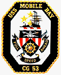 USS Mobile Bay CG-53 Oval Decal Gifts