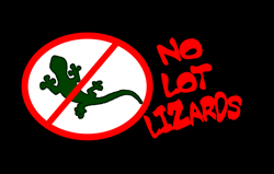 No Lot Lizards Oval Decal Gifts