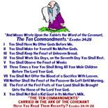 Ten Commandments Moses