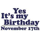 November 17Th Birthday