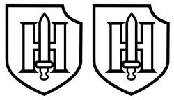 Hohen Shield Rectangle Decal