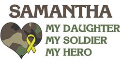 Samantha: My Hero Bumper Bumper Sticker