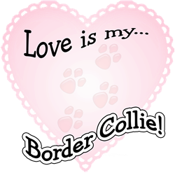 Love is my Border Collie T-Shirt