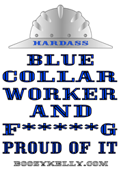Blue Collar Oval Decal