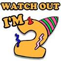 Birthday turning 2 Toddler T-Shirt