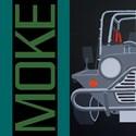 Mini moke Mens Organic Fitted T-shirts (Dark)