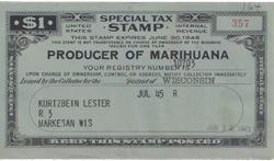 Marihuana Tax Stamp Rectangle Decal Gifts