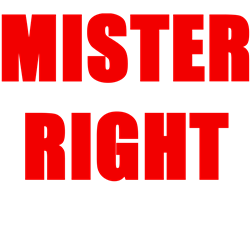 MISTER RIGHT Ornament (Round)