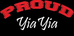 Proud YiaYia (black & red) Coffee Mug