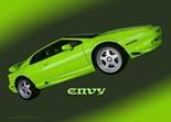 Green Envy.Car Art