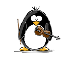 Violin Penguin     Gifts